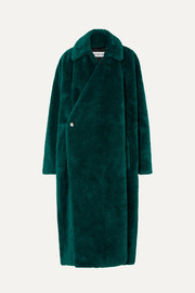 Balenciaga Oversized faux fur coat