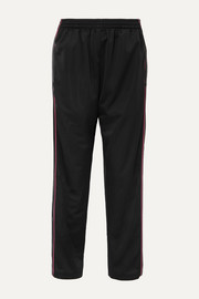 Balenciaga Striped satin-jersey track pants