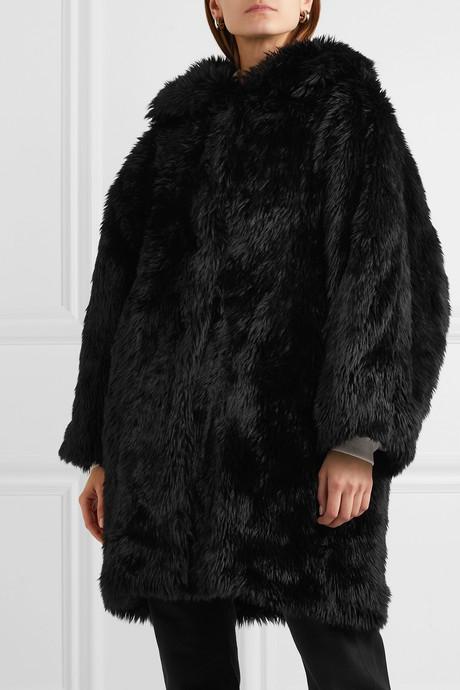 Swing oversized faux fur coat
