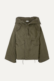 Balenciaga Swing oversized hooded cotton-twill jacket