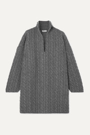 Balenciaga Oversized cable-knit wool sweater