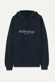 Balenciaga Embroidered cotton-jersey hoodie