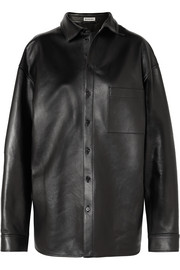 Balenciaga Oversized leather shirt