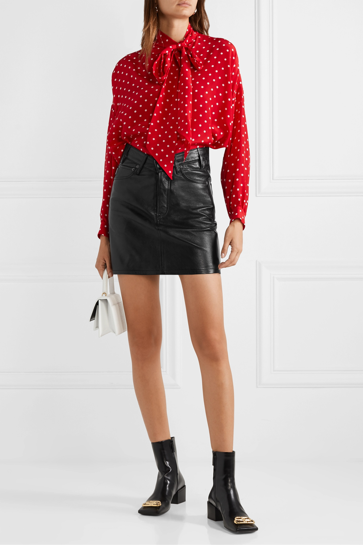 Balenciaga Textured-leather mini skirt