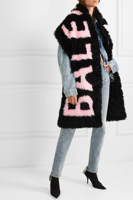 Balenciaga Intarsia faux fur scarf
