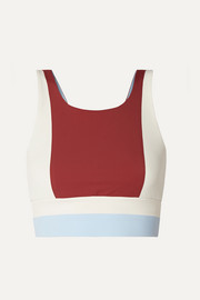 Vaara Poppy color-block stretch sports bra