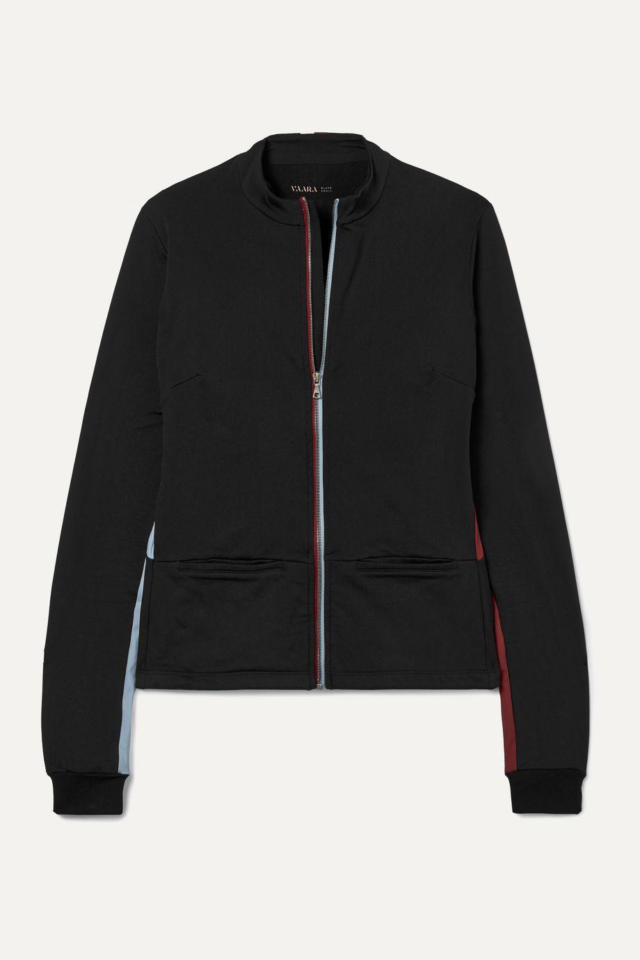 Vaara Blake Thermal striped stretch-jersey jacket