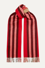 Burberry Fringed striped cashmere scarf