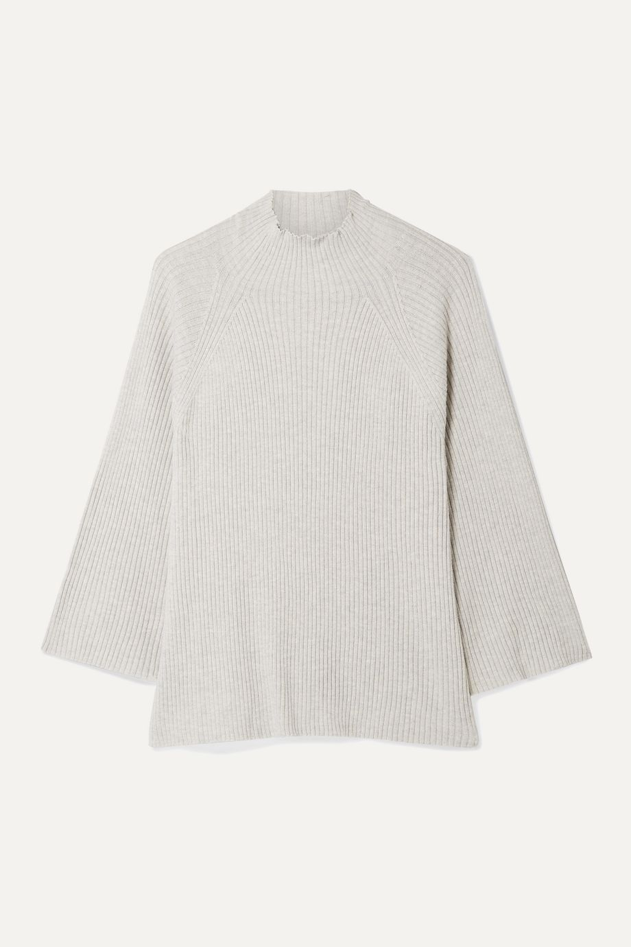 Skin Ribbed cotton-blend sweater