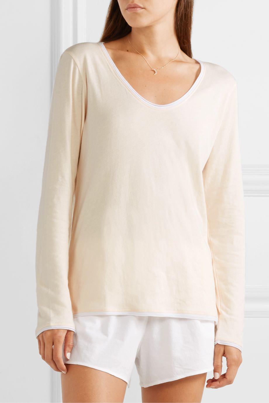Skin Gweneth organic Pima cotton-jersey pajama top