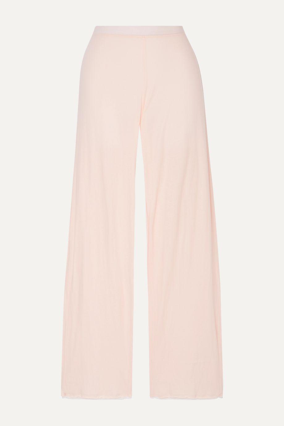 Skin Greta organic Pima cotton-jersey pajama pants