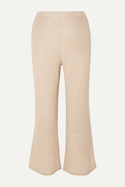 Melinda ribbed wool-blend pants