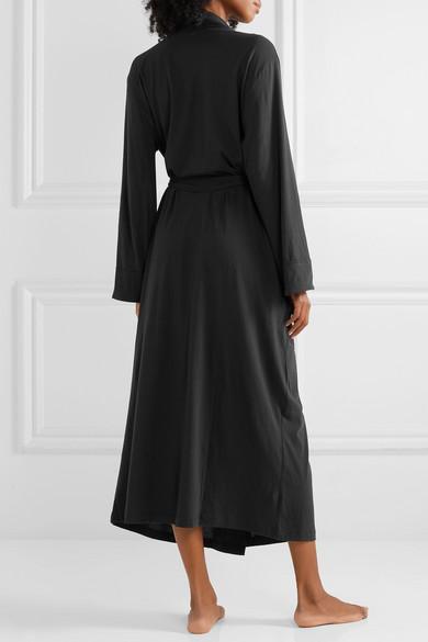 Kahali Belted Organic Pima Cotton Jersey Robe by Skin