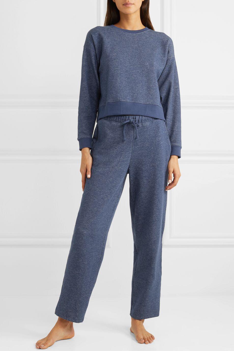 Skin Breena mélange cotton-jersey track pants