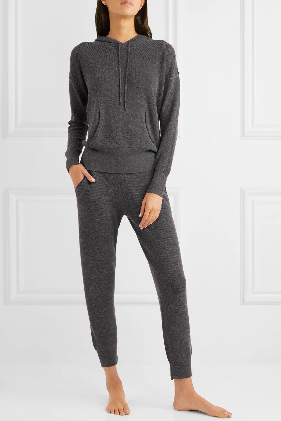 Skin Marlowe waffle-knit wool-blend track pants