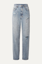 + Kendall Jenner Playback distressed high-rise straight-leg jeans
