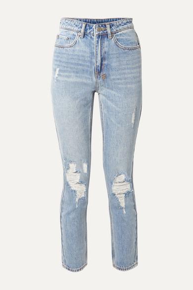 250f43379fd53 Ksubi   Slim Pin distressed high-rise skinny jeans   NET-A-PORTER.COM