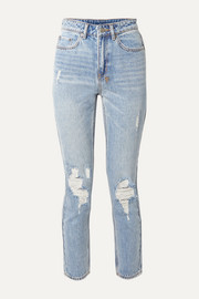 Slim Pin distressed high-rise skinny jeans