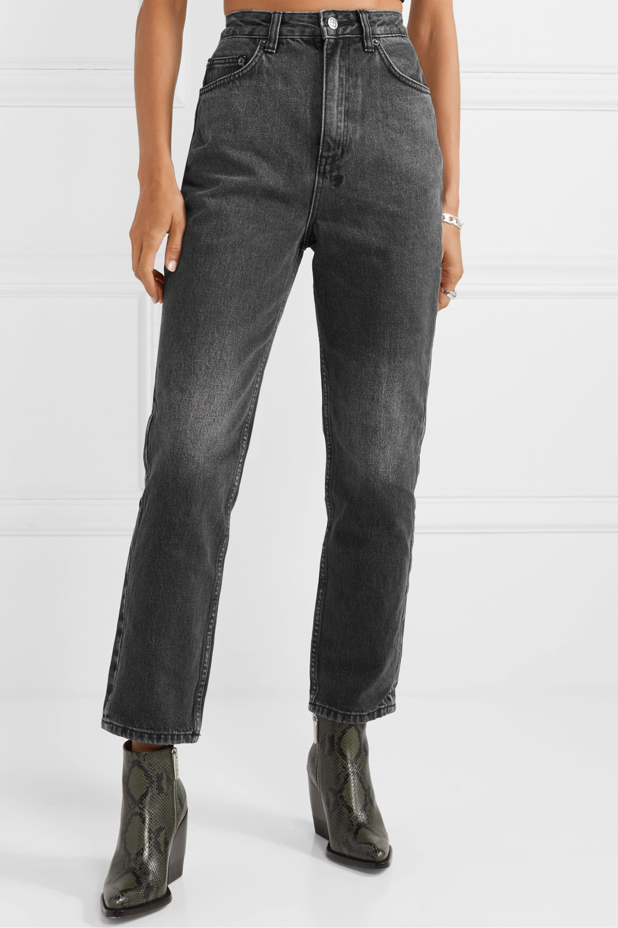 Ksubi Chlo Wasted high-rise straight-leg jeans