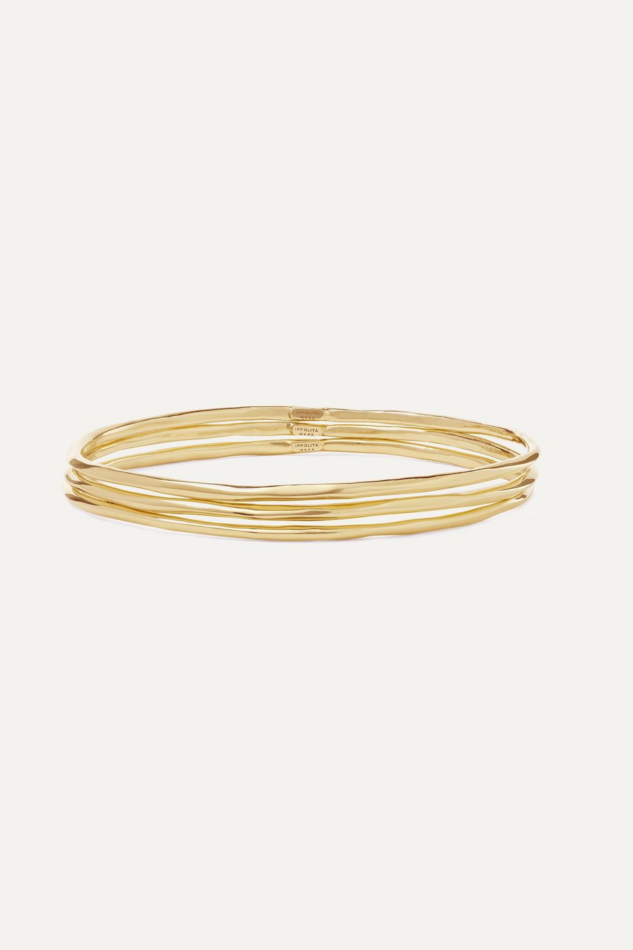 Ippolita Classico set of three 18-karat gold bangles