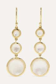 Lollipop 18-karat gold mother-of-pearl earrings