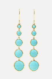 Lollipop Lollitini 18-karat gold turquoise earrings