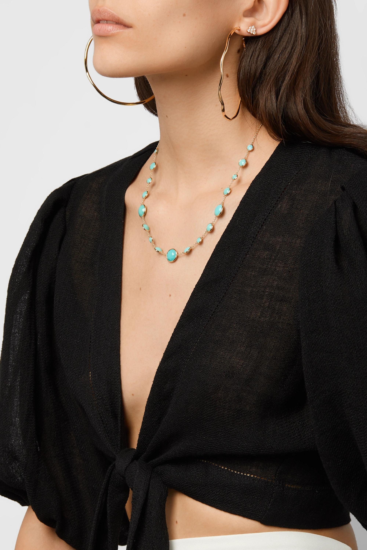Ippolita Lollipop Lollitini 18-karat gold turquoise necklace