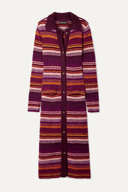 House of Holland Striped knitted cardigan