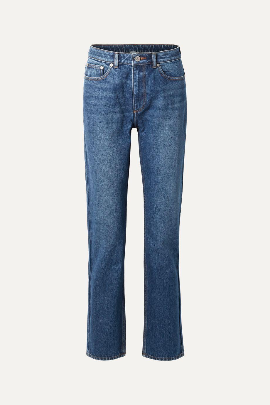 Burberry High-rise straight-leg jeans