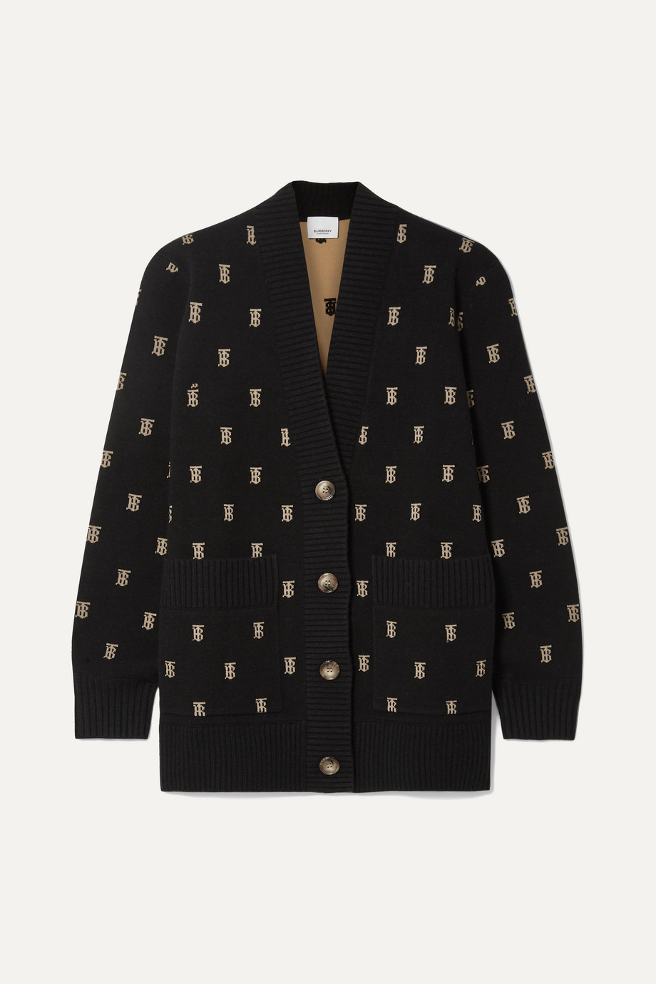 Burberry Intarsia-knit cardigan