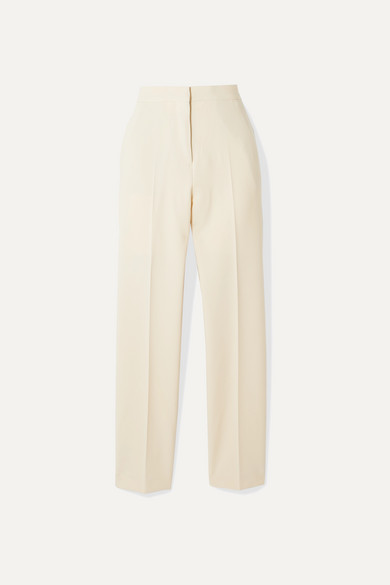 stretch-wool-crepe-straight-leg-pants by burberry