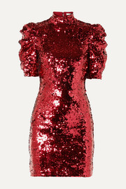 Brenna sequined tulle mini dress