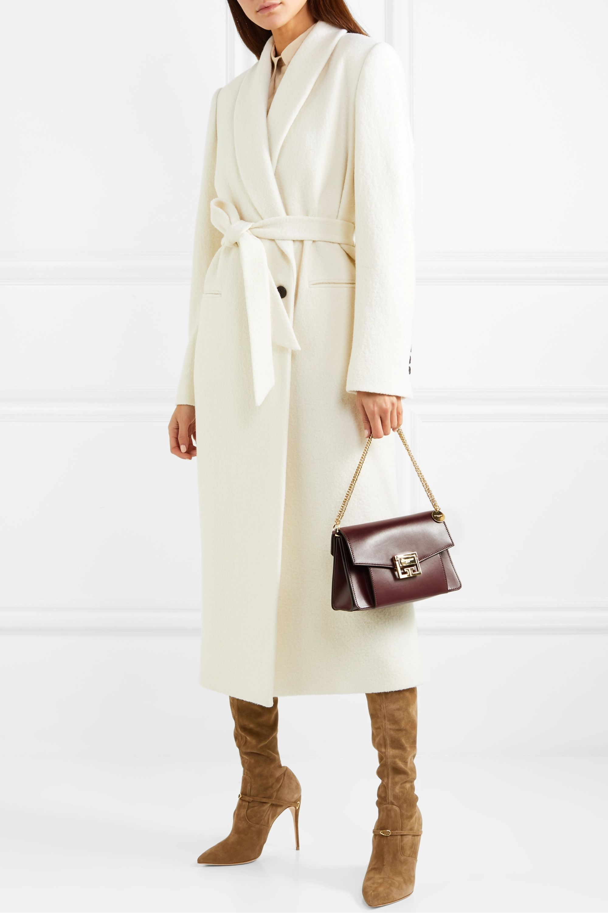 Jennifer Chamandi Alessandro 105 suede over-the-knee boots