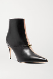 Nicolò 85 two-tone leather ankle boots
