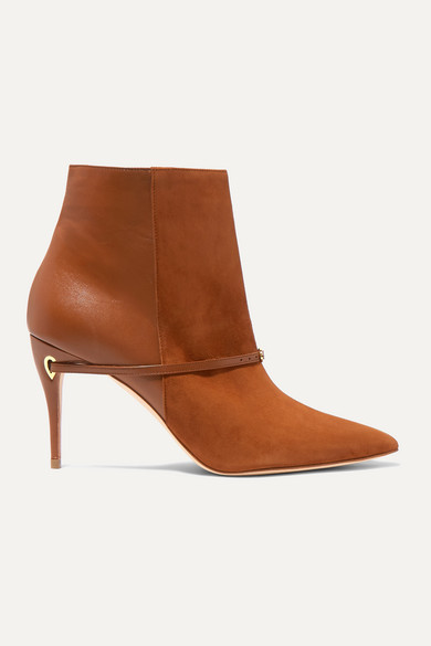 Nicolò 85 Suede And Leather Ankle Boots by Jennifer Chamandi