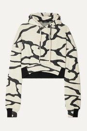 Hyper Reality cropped cotton-blend jacquard-knit hoodie