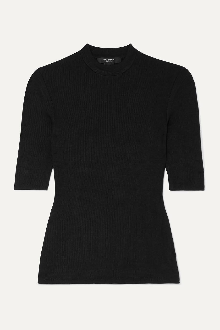TWENTY Montréal Mackay T-Shirt aus geripptem Stretch-Jersey
