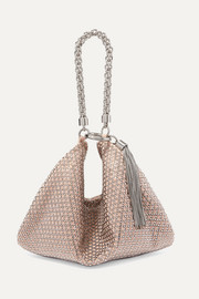 Jimmy Choo Callie crystal-embellished suede clutch