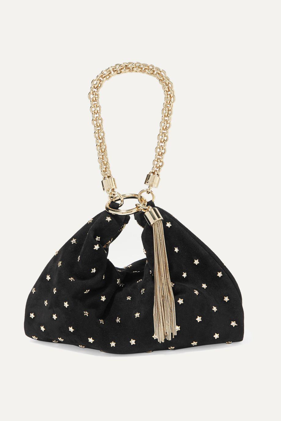 Jimmy Choo Callie embellished suede shoulder bag