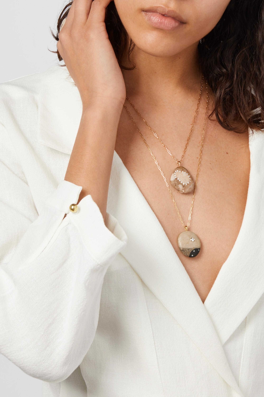 CVC Stones Speciale 18-karat gold, stone and diamond necklace