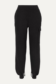 The Range Cotton-blend jersey track pants