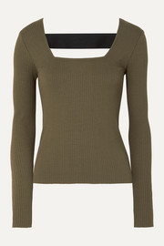 The Range Alloy cutout ribbed stretch-knit top