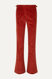 Thompson cotton-corduroy flared pants