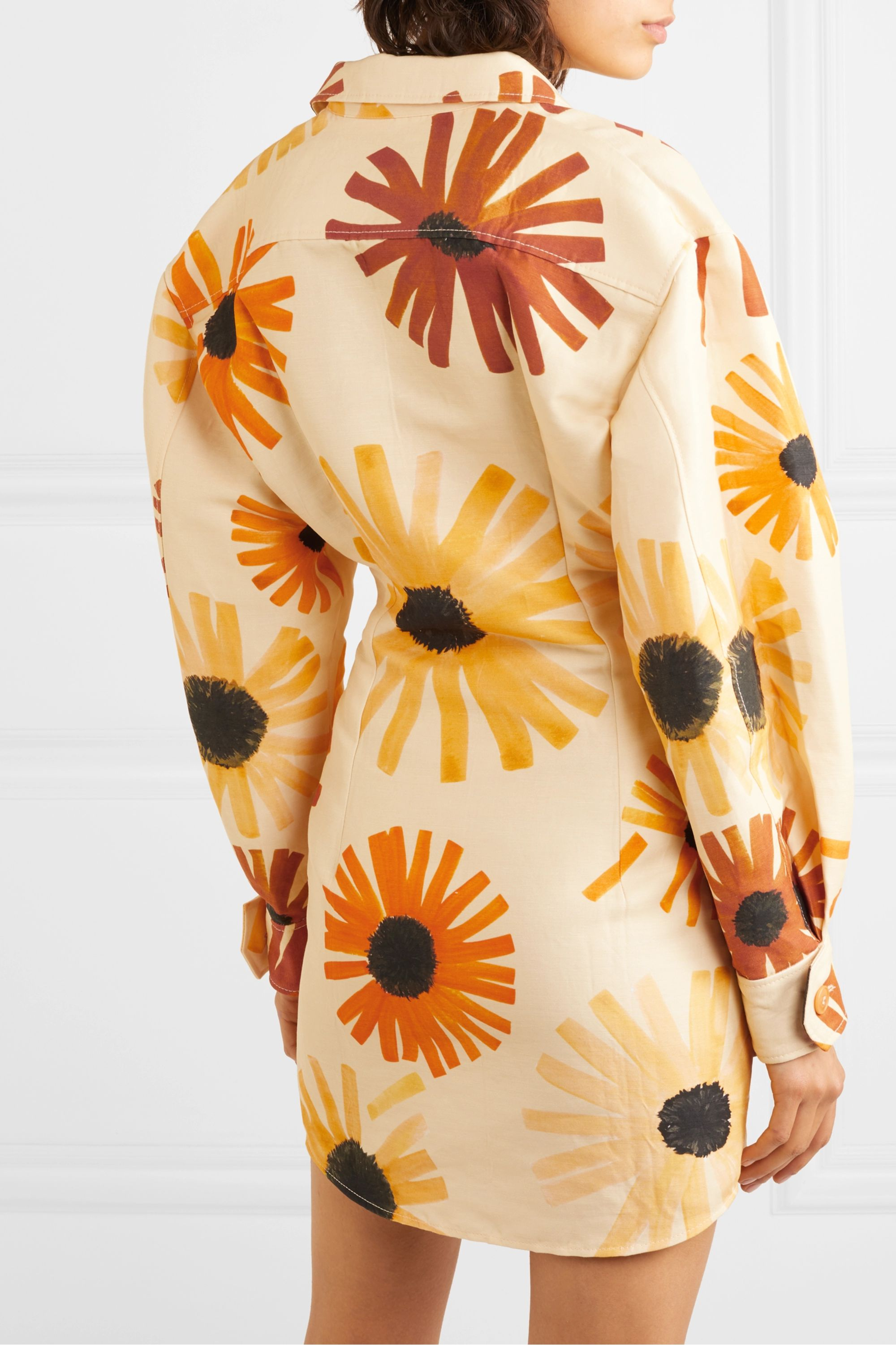 Jacquemus Murano floral-print cotton and linen-blend mini dress