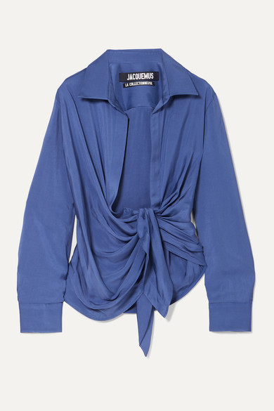 Jacquemus T-shirts Knotted twill shirt