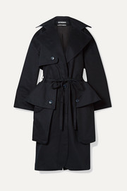 Le Manteau Bagli belted herringbone cotton trench coat