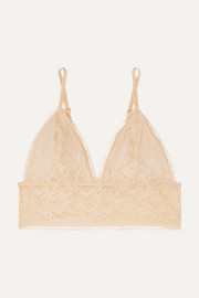 Magda stretch-lace soft cup triangle bralette