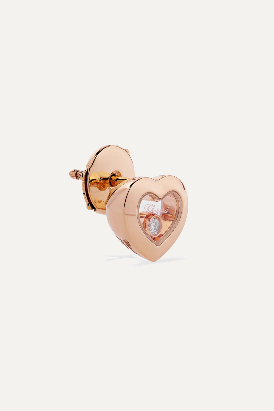 Chopard Boucles d'oreilles en or rose 18 carats et diamants Happy Diamonds - NET SUSTAIN