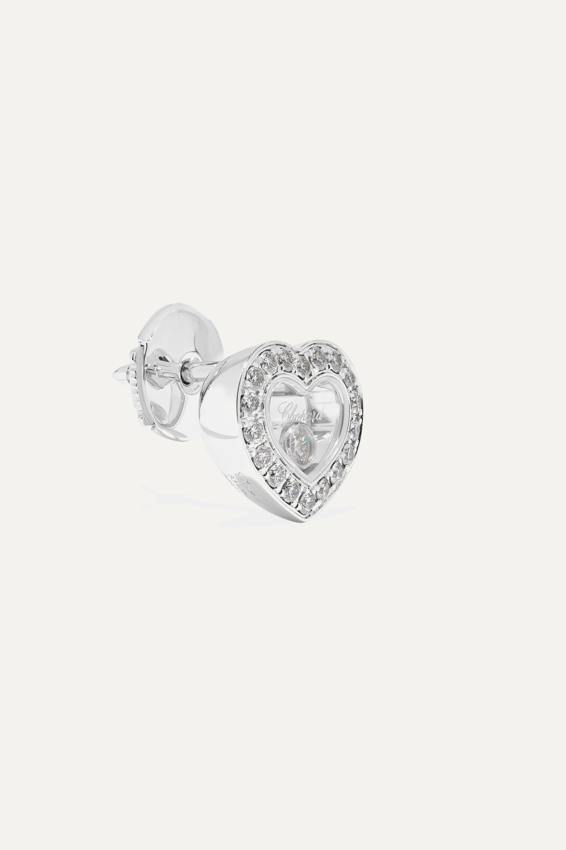 Chopard Boucles d'oreilles en or blanc 18 carats et diamants Happy Diamonds - NET SUSTAIN
