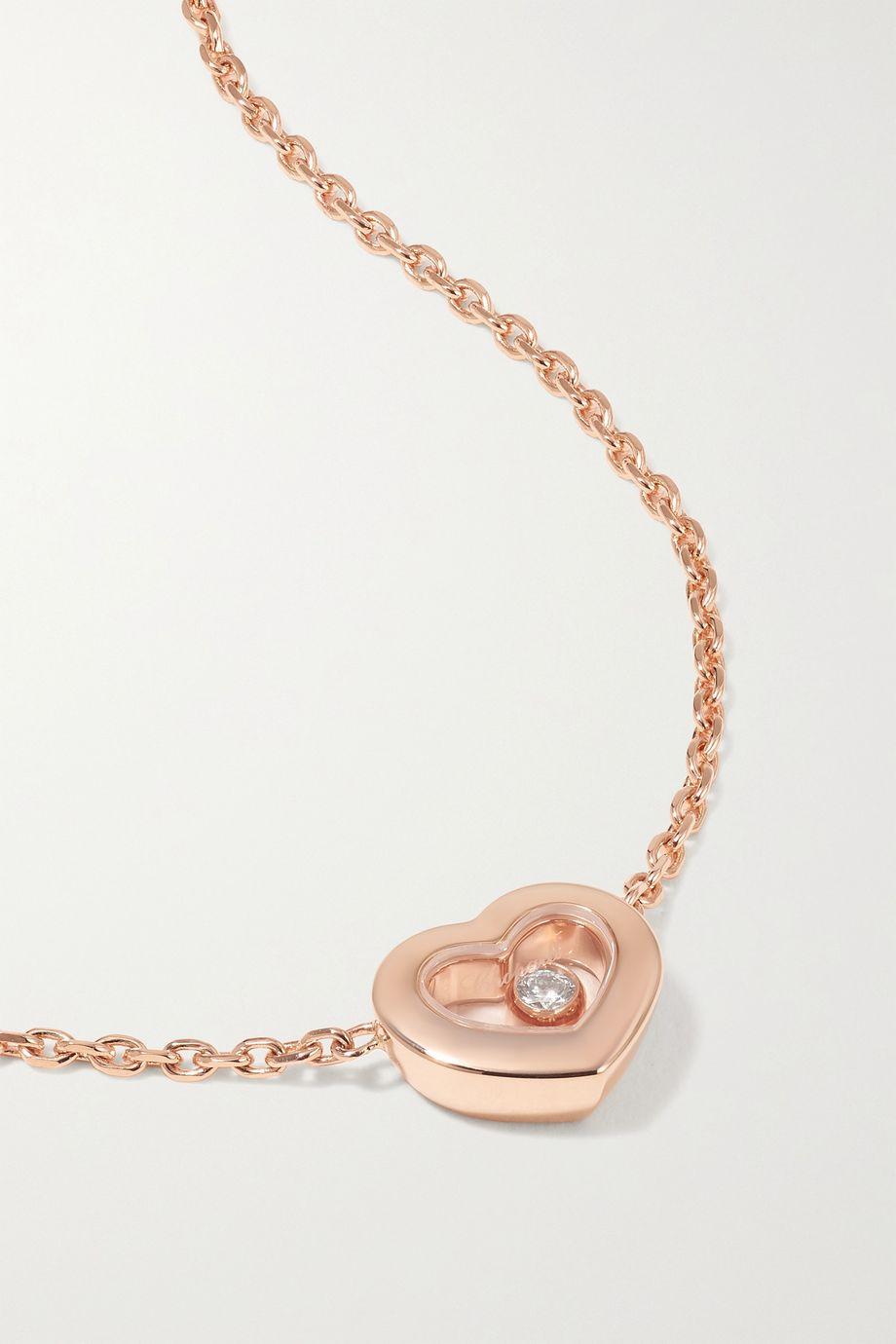 Chopard + NET SUSTAIN Happy Diamonds Kette aus 18 Karat Roségold mit Diamant